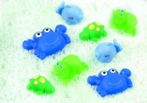 Playgro Бебешка играчка Животни за баня (8 бр./оп.) - момче 0502
